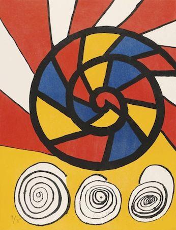 Литография Calder - Phonograph