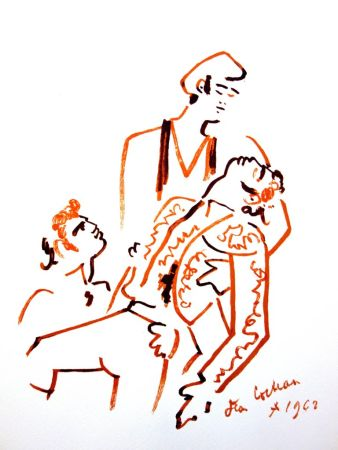 Литография Cocteau - Piété Espagnole