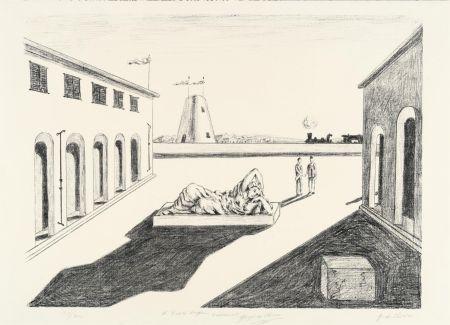 Литография De Chirico - Piazza d'Italia