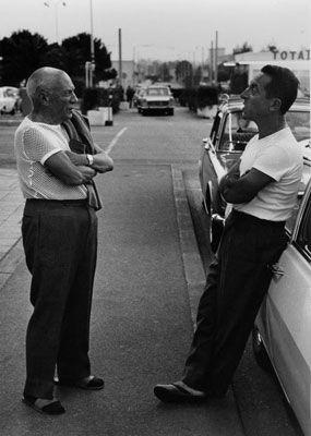 Фотографии Clergue - Picasso And Taxidriver