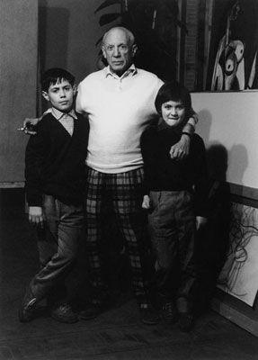 Фотографии Clergue - Picasso Avec Claude Et Paloma