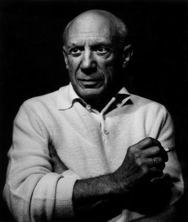 Фотографии Clergue - Picasso con un cigarro