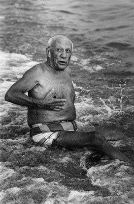 Фотографии Clergue - Picasso en la playa I