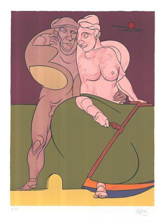 Литография Adami - Picasso et la femme neo-classique