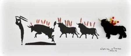 Литография Leirner - Picasso Toros-1