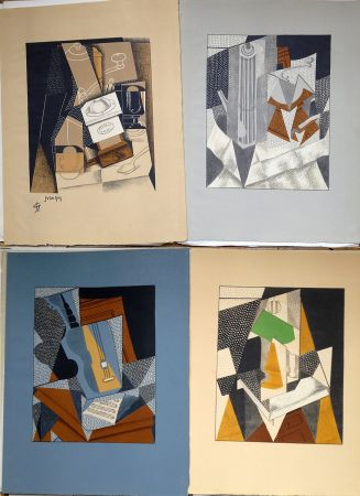 Иллюстрированная Книга Gris  - Pierre Reverdy:  AU SOLEIL DU PLAFOND. Tériade 1955