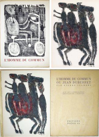 Иллюстрированная Книга Dubuffet - Pierre Seghers : L'HOMME DU COMMUN ou Jean Dubuffet (1944).