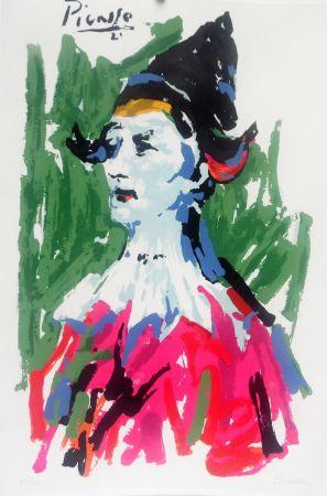 Литография Picasso (After) - Pierrot