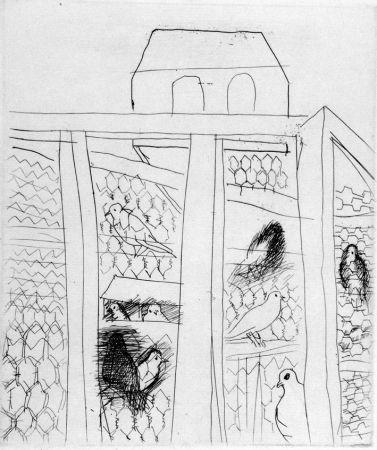 Офорт Dufy - Pigeonners II