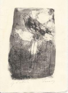 Литография Jansem - Pigeons