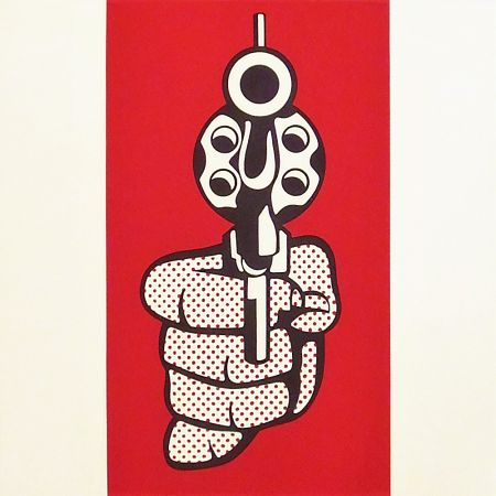 Сериграфия Lichtenstein - Pistol