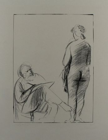 Литография Manzu - Pittore e modella