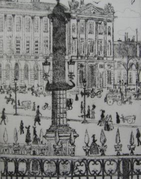 Гравюра Vrieslander - Place de la Concorde