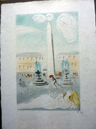 Офорт И Аквитанта Dali - Place de la Concorde