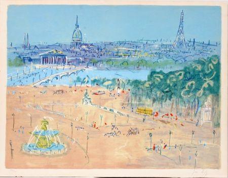 Литография Dufy - Place de la Concorde