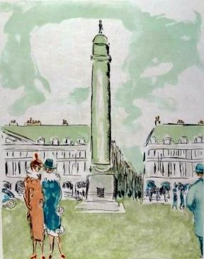 Литография Van Dongen - Place Vendome