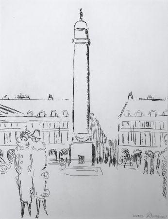 Гравюра Van Dongen - Place Vendome