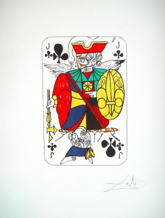 Литография Dali - Playing card Valet de Trefle (25)