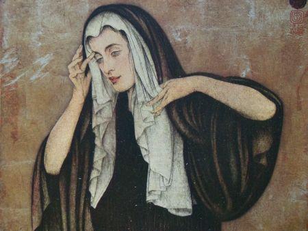 Гравюра Sauer - Pleureuse