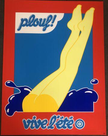 Сериграфия Hauss - PLOUF été 70 pour Prisunic