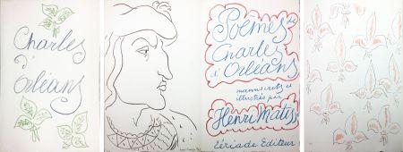 Иллюстрированная Книга Matisse - POÈMES DE CHARLES D'ORLÉANS 54 lithographies par Henri Matisse (1950).