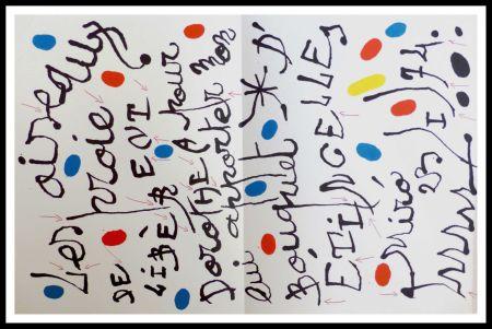 Литография Miró - Poème pour Dorothea Tanning