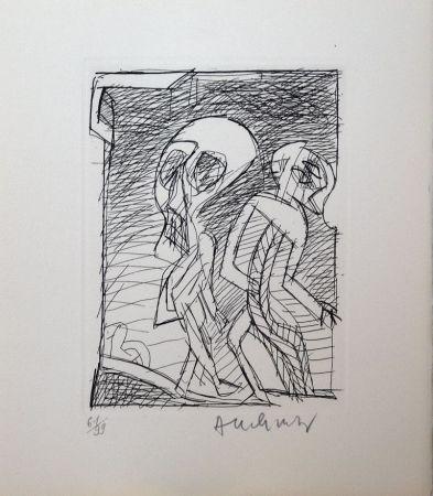 Офорт Alechinsky - Poèmes à peine poèmes