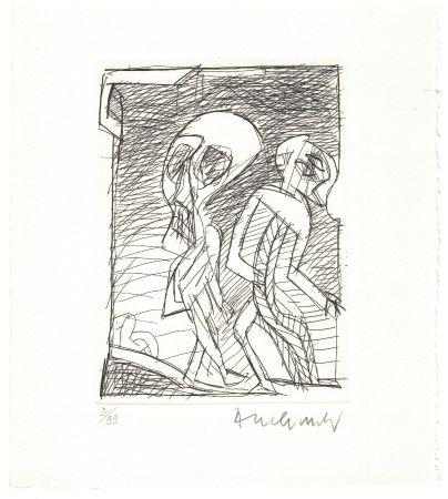 Офорт Alechinsky - '' Poèmes à peine poèmes ''