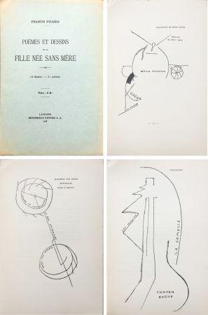 Иллюстрированная Книга Picabia - Poèmes et dessins de la fille née sans mère. 18 dessins - 51 poèmes (1918).