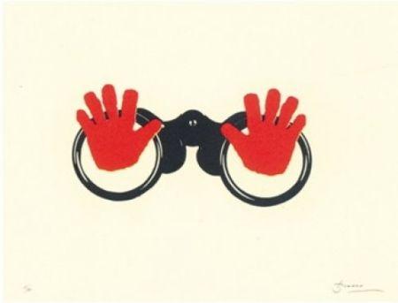 Литография Brossa - Poema visual 16