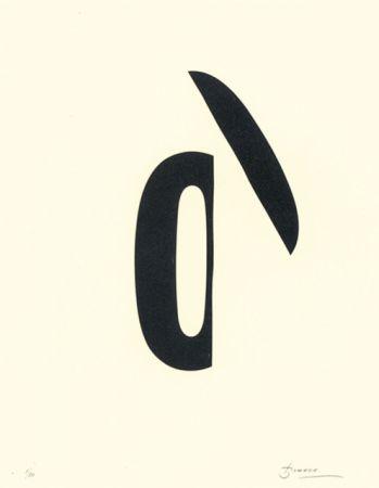 Литография Brossa - Poema visual 19