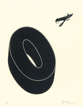 Литография Brossa - Poema visual 20