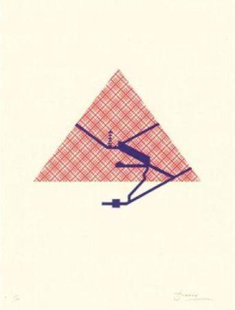 Литография Brossa - Poema visual 25