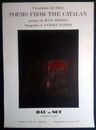 Афиша Tàpies - Poems from the Catalan - Tàpies / Brossa 1973
