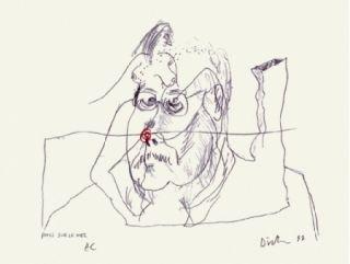 Сериграфия Dietman - Poils sur le nez