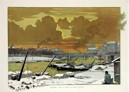Литография Grasset - Pont de Sully