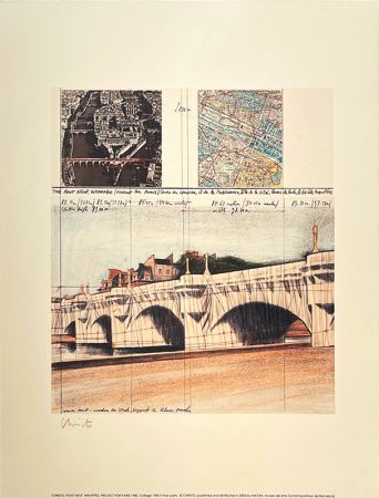 Литография Christo - Pont neuf, Paris