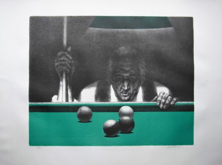 Литография Hirsch - Pool player