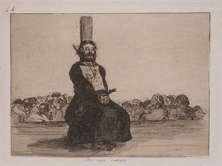 Гравюра Goya - POR UNA NAVAJA
