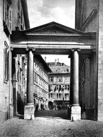 Литография Fontanesi - Porte de la Treille