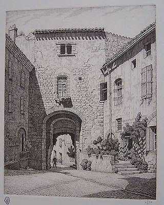 Гравюра Strang - Porte des Ormeaux, Cordes