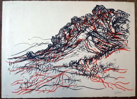 Литография Guttuso - Portella delle Ginestre