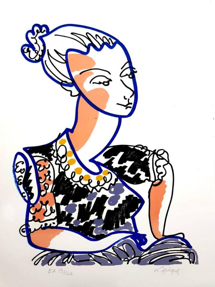 Литография Lapicque - Portrait