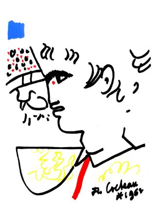 Литография Cocteau - Portrait