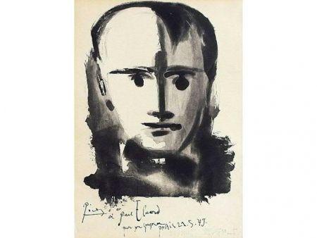Акватинта Picasso - PORTRAIT D HOMME A LA MECHE
