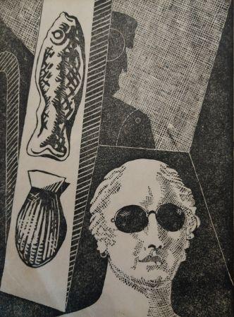 Гравюра На Дереве De Chirico - Portrait d'Apollinaire