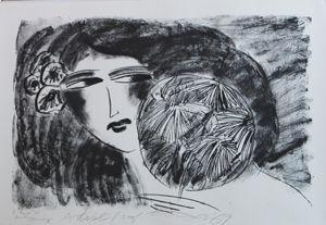 Литография Ting - Portrait De Femme