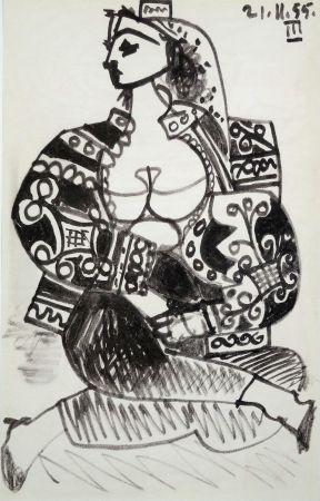 Литография Picasso - Portrait De Femme