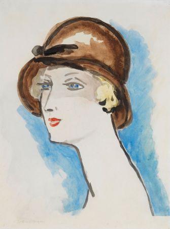 Литография Van Dongen - Portrait de Femme, 1925-30