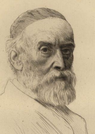 Гравюра Legros - Portrait de G.F. Watts R.A.